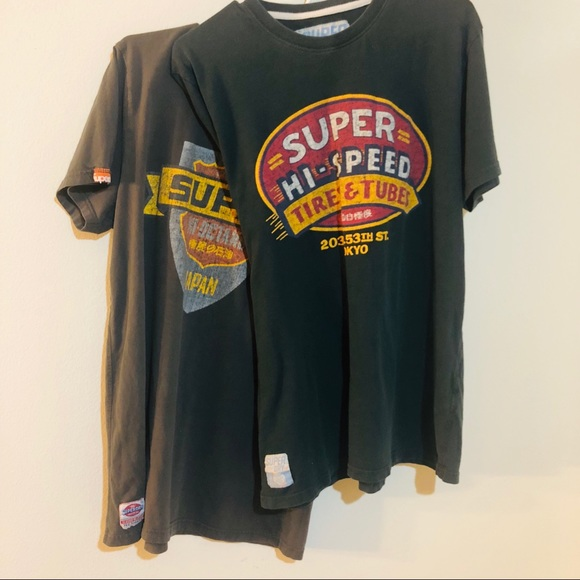 Superdry Motor Oil T shirt Men's T Shirts